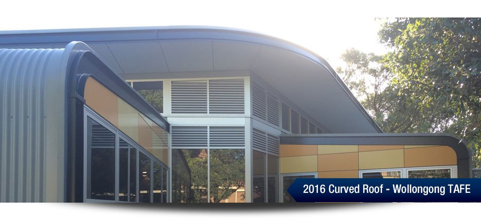 2016 Curved Roof - Wollongong TAFE
